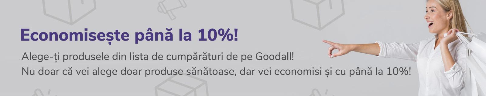 Economiseste pana la 10%